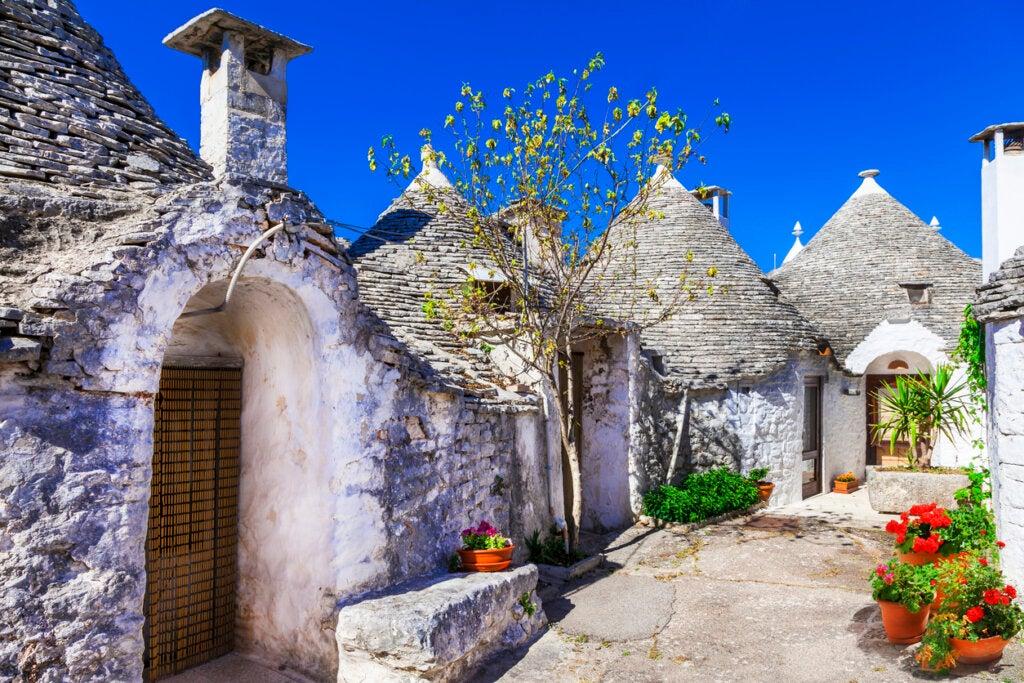 Los trulli de Alberobello, ubicados en Puglia, Italia.