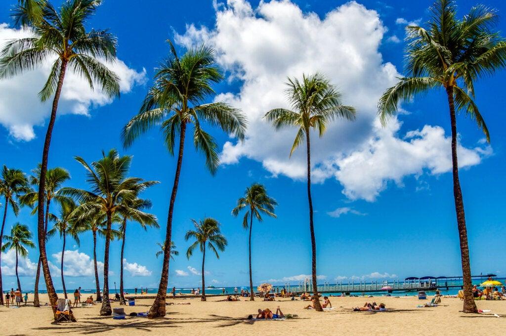 La isla de Lanai en Hawái
