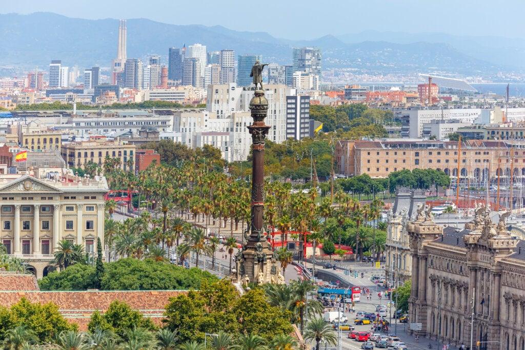 El Mirador de Colom es un punto turístico de Barcelona.