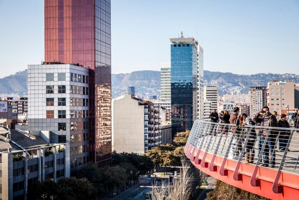 El del Centro Comercial Las Arenas es uno de los mejores miradores de Barcelona.