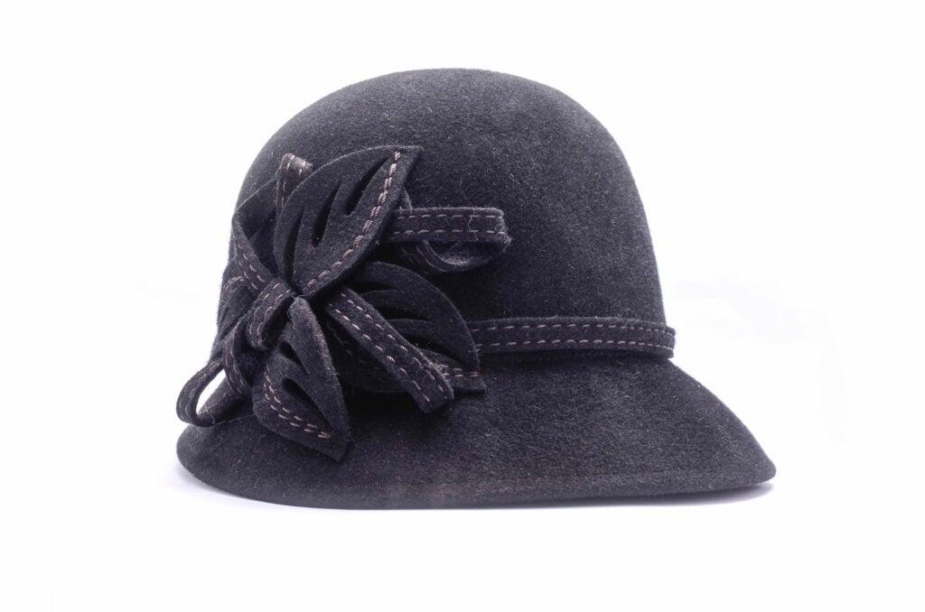 El sombrero clochées propio de la época de invierno