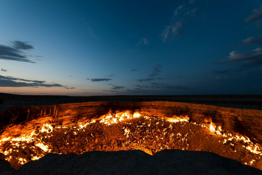 La puerta del infierno en Turkmenistán